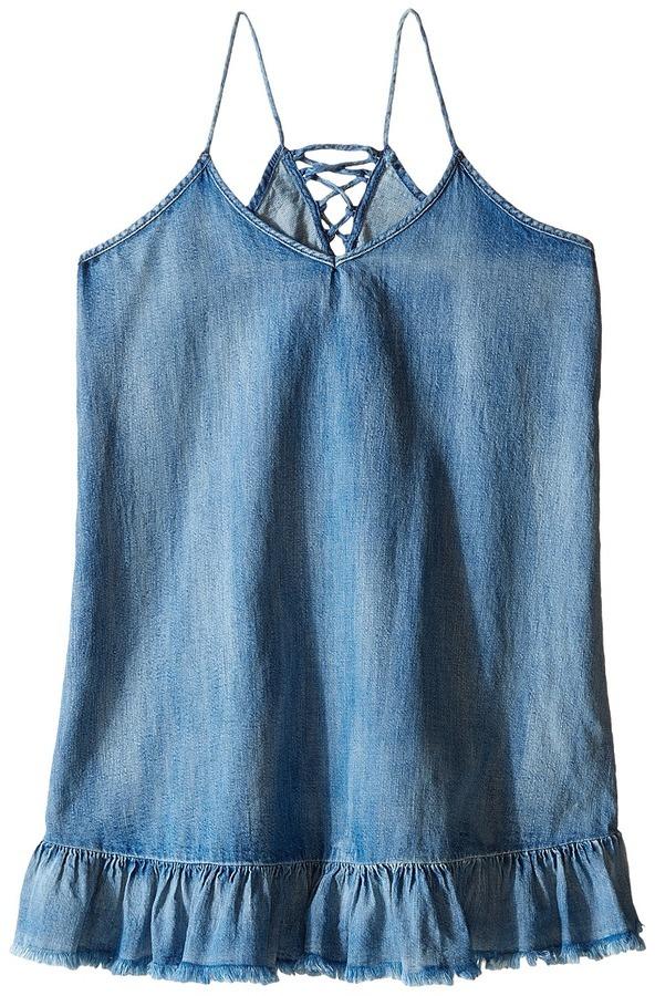 Blank Nyc Kids Ruffle Denim Dress