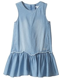Chloe Kids Denim Effect Sleeveless Dress From Adult Collection Girls Dress