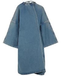 Balenciaga Denim Wrap Dress Mid Denim