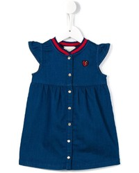 Gucci Kids Web Collar Denim Dress