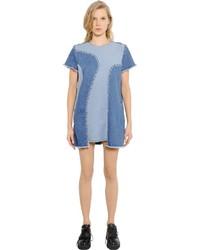 House of Holland Patchwork Cotton Denim Dress