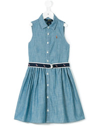 Ralph Lauren Kids Belted Denim Dress