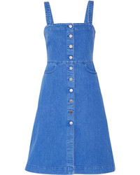 Stella McCartney Linda Stretch Denim Dress Mid Denim