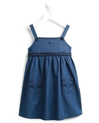 Armani Junior Ruffled Denim Dress