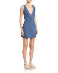 Free People Xx Mini Denim Dress