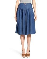 Blue Denim Full Skirt