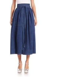 Marc Jacobs Denim Midi Skirt