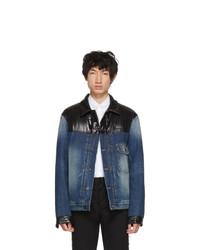 Moncler Genius 7 Moncler Fragt Hiroshi Fujiwara Navy Shady Down Denim Jacket