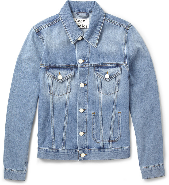 Acne Studios Jam Slim Fit Washed Denim Jacket | Where to buy & how ...