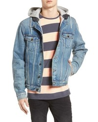 Scotch & Soda Amsterdam Blauw Hooded Trucker Jacket