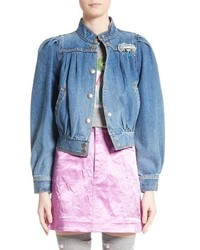 Marc Jacobs Antique Puff Sleeve Denim Jacket
