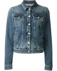 Armani Jeans Fitted Cropped Denim Jacket