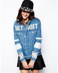 Asos Detroit Denim Jacket In Boyfriend Fit