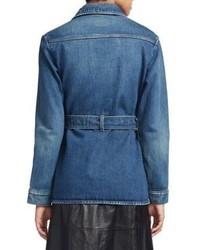5c520e417acd ... Saint Laurent Belted Denim Jacket