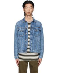 Nudie Jeans Blue Denim Bobby Jacket