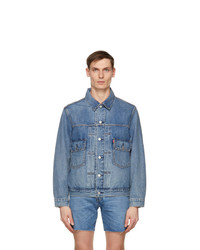 Levis Blue Denim Contemporary Type Ii Trucker Jacket