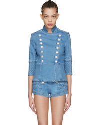 259106872e7 Women's Blue Denim Jackets by PIERRE BALMAIN | Women's Fashion ...