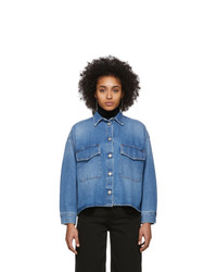 MM6 MAISON MARGIELA Blue Denim Double Pocket Shirt