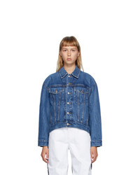 Alexander Wang Blue Denim Falling Back Jacket