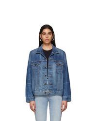 Khaite Blue Denim Oversized Cate Jacket