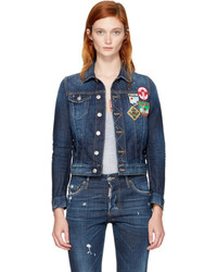 Dsquared2 Blue Denim Patches Jacket