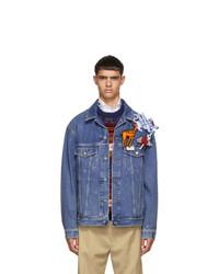 Gucci Blue Denim Pin Jacket