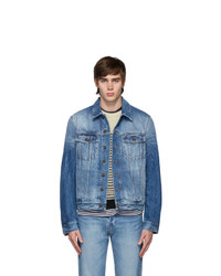 Saint Laurent Blue Denim Shadow Classic Jacket