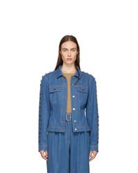 Kreist Blue Denim Studded Jacket