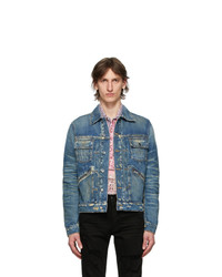 Amiri Blue Denim Wrangler Jacket