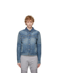 Balmain Blue Logo Jacket