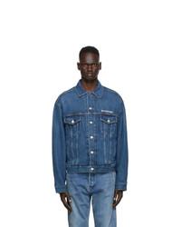 Balenciaga Blue Organic Large Fit Jacket