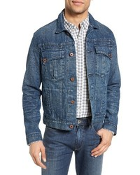 Billy Reid Clayton Distressed Selvedge Denim Jacket