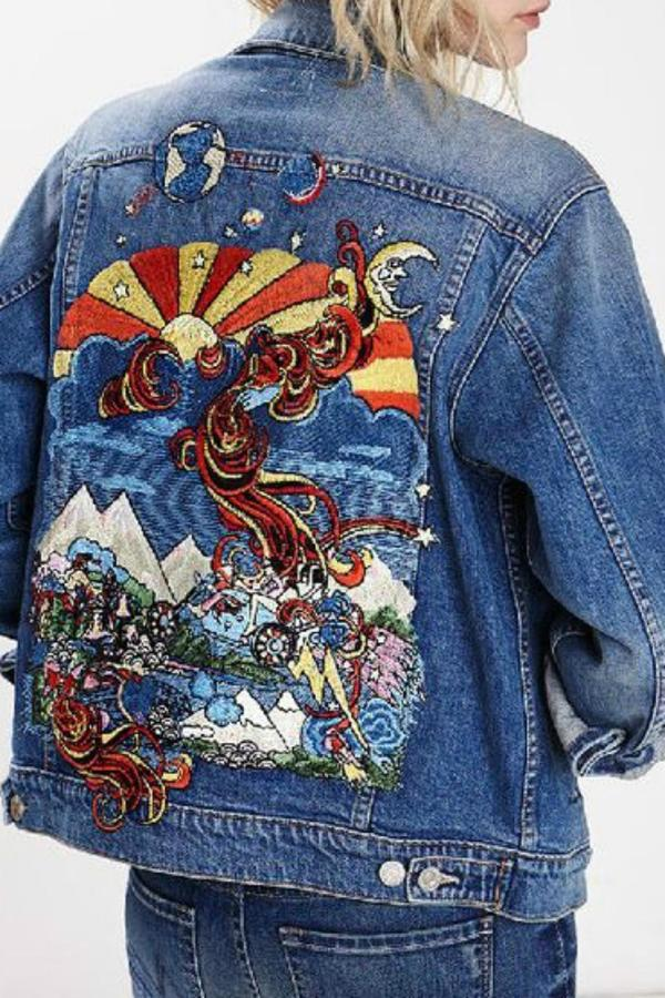 Mother Denim Embroidered Jean Jacket | Where to buy & how to wear