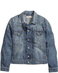 H&M Denim Jacket Denim Blue