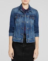 Paige Denim Medium Wash Rowan Jacket In Veruca