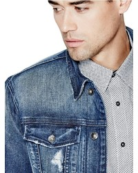 GUESS Dillon Denim Jacket In Burnt Wash, $148 GUESS  GUESS