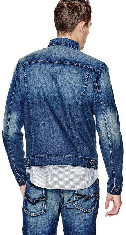 Dillon Denim Jacket In Burnt Wash