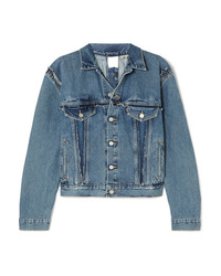 Vetements Double Sided Distressed Denim Jacket