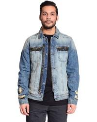 Excelled Distressed Denim Jacket