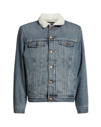 Madewell Faux Fur Lined Jean Jacket
