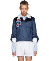 Miu Miu Indigo Denim Patches Jacket
