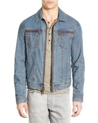 John Varvatos Star Usa Zip Front Denim Jacket