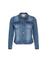 Junarose Cut Denim Jacket Blue