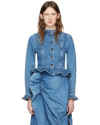 Jw anderson blue denim ruffle jacket medium 1250408