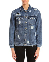 Mavi Jeans Karla Distressed Denim Jacket