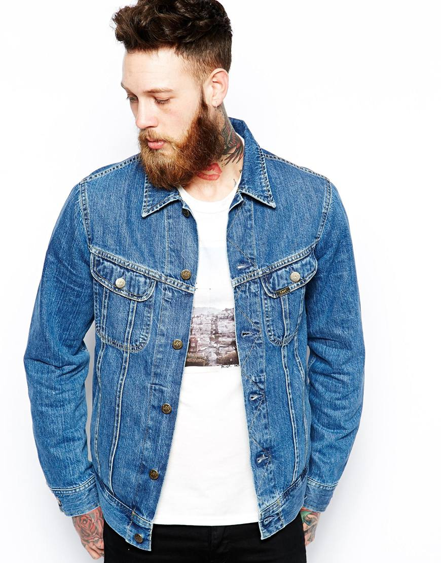 Lee Denim Jacket Regular Fit Rider Stonewash | Where to buy & how ...