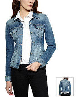 Levi's Levis Fitted Trucker Jean Jacket Saddle Blue | Where to buy ...