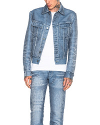 Calvin Klein Collection London Jacquard Denim Jacket