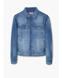 Mango Man Vintage Wash Denim Jacket