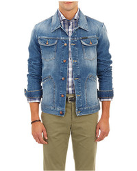 Michael Bastian Michl Bastian Stone Washed Denim Jacket
